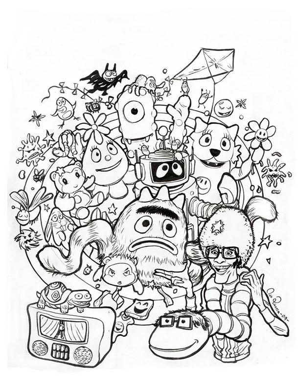 Yo Gabba Gabba Drawing at GetDrawings.com | Free for personal use Yo ...