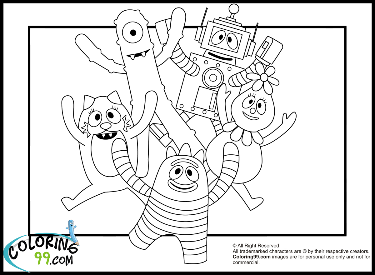 Yo Gabba Gabba Drawing at GetDrawings.com   Free for personal use Yo ...