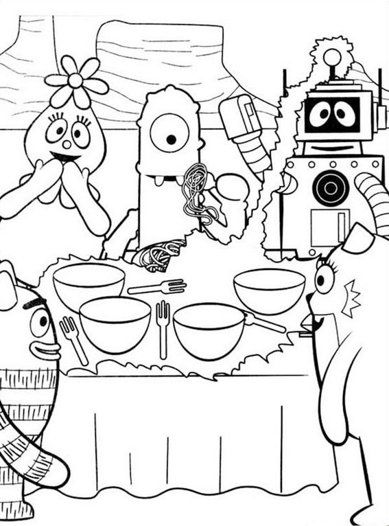 567x766 Yo Gabba Gabba Coloring Pages Encourage Kids To Sing And Dance