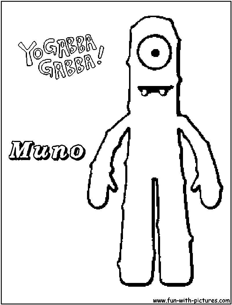 Yo Gabba Gabba Muno Drawing