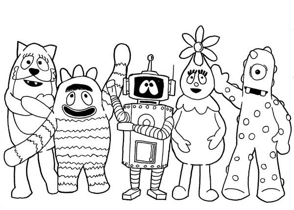 600x429 Picture Of Yo Gabba Characters Coloring Page Sun