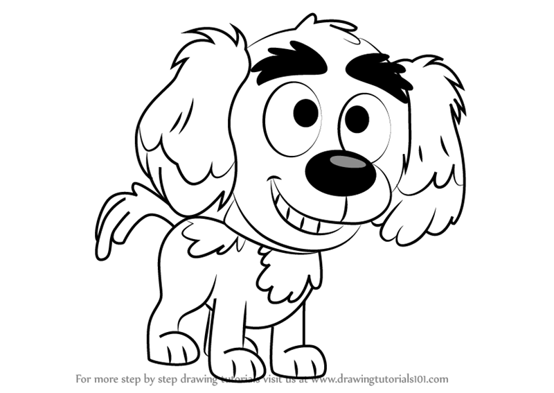 800x567 Learn How To Draw Yo Yo From Pound Puppies (Pound Puppies) Step By