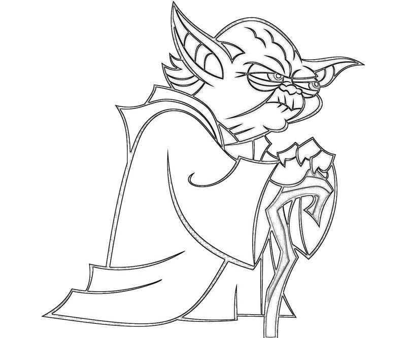 800x667 Charming Yoda Coloring Pages 91 For Your Line Drawings With Yoda