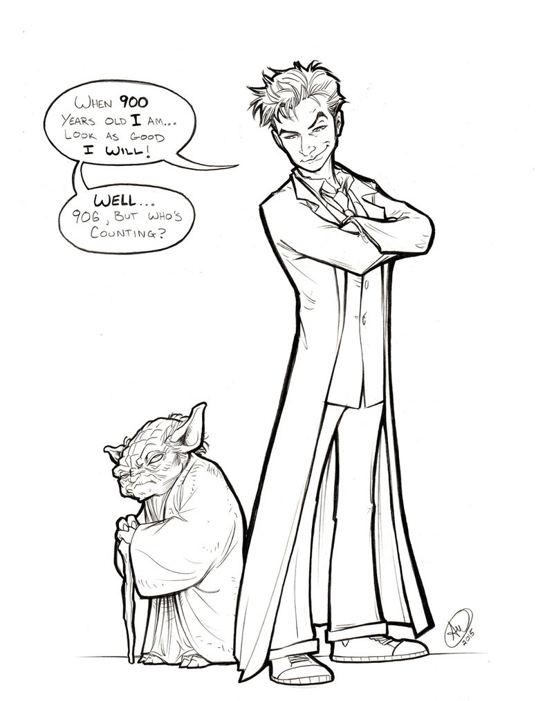 Yoda Line Drawing