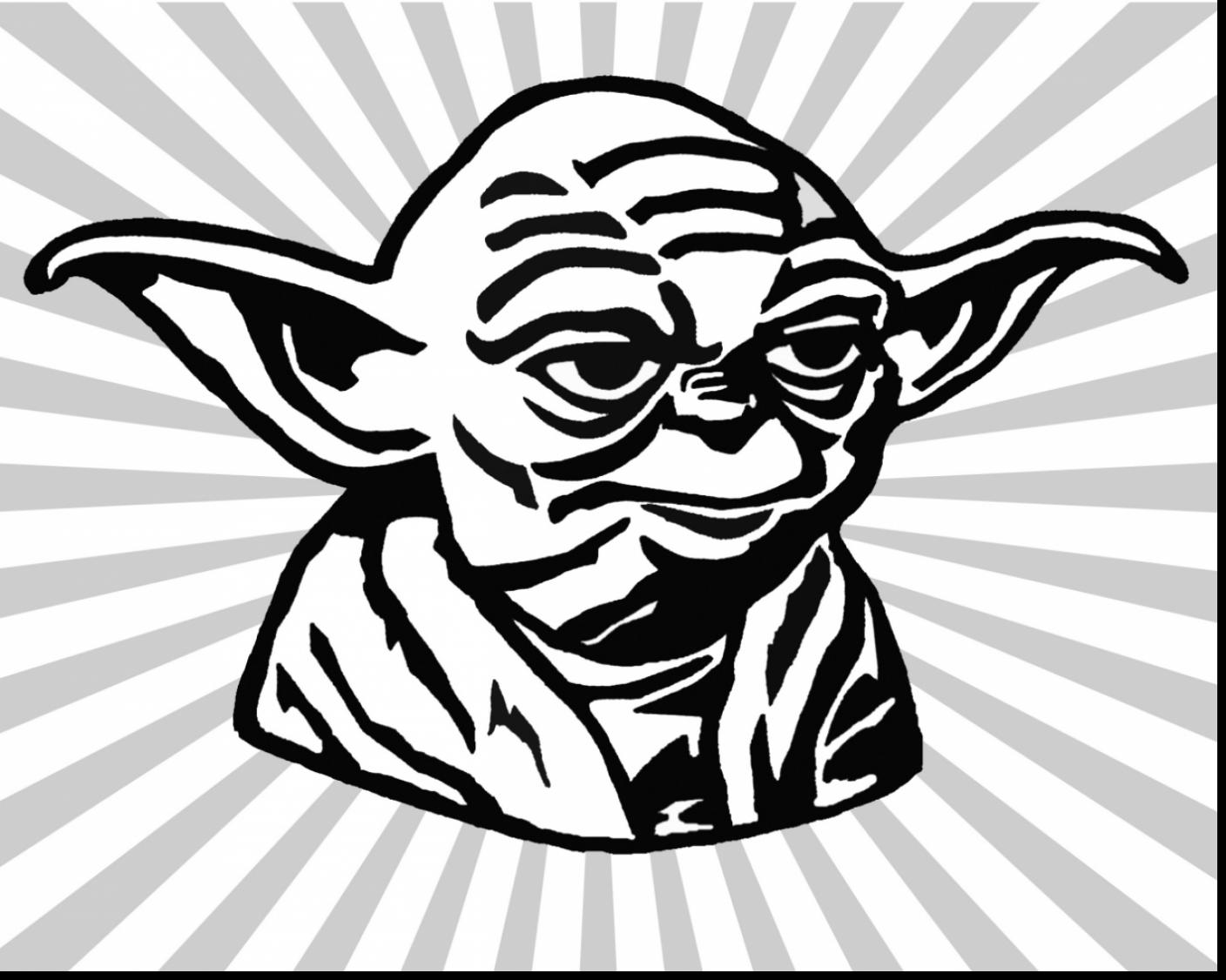 1408x1126 Surprising Yoda Face Coloring Page With Yoda Coloring Pages