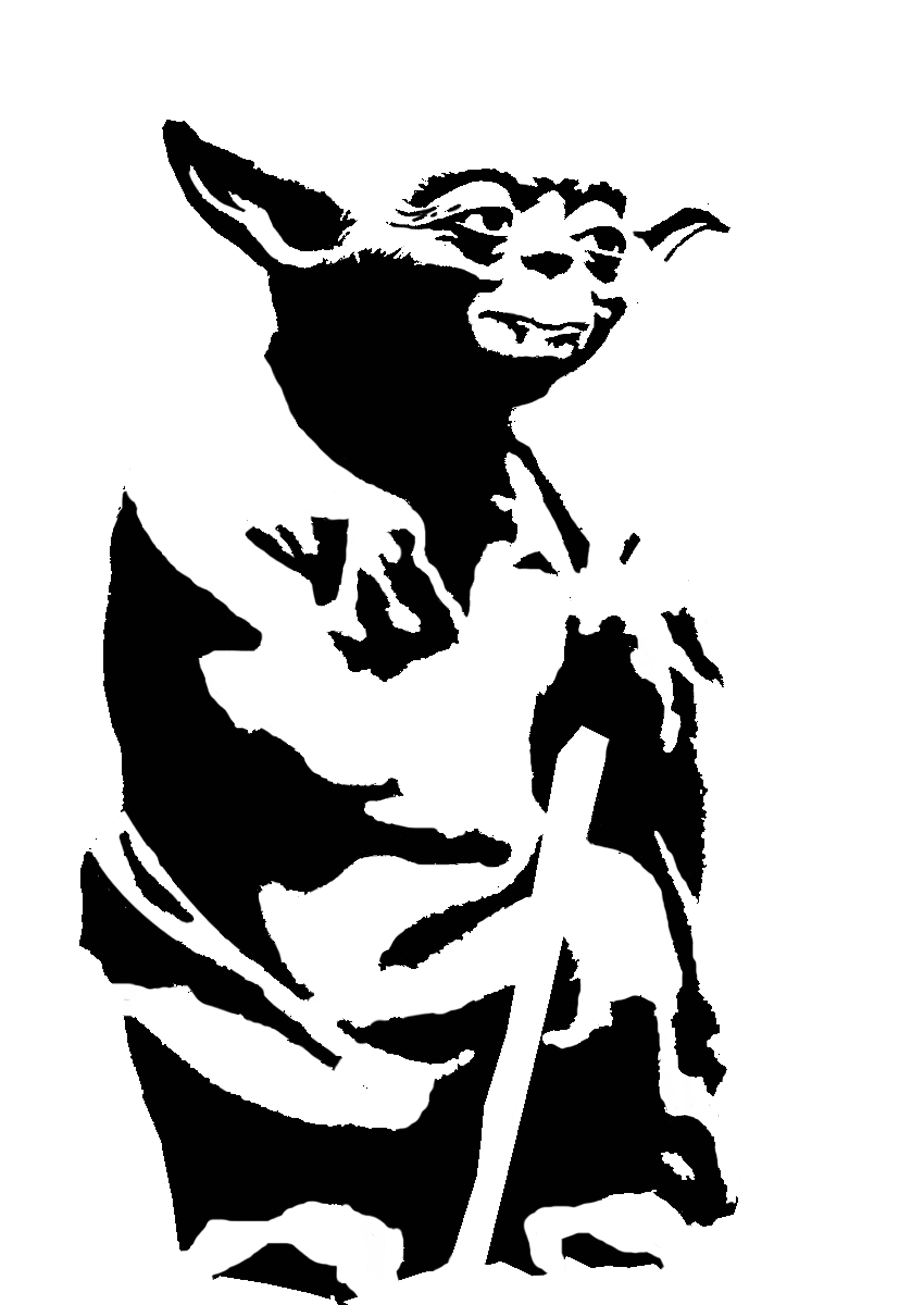 6732x9504 Yoda Stencil Template Stencil Templates Stencil