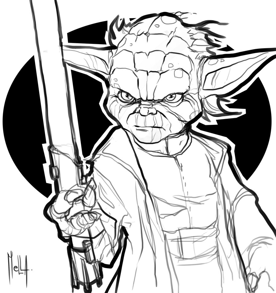 Yoda Line Drawing at GetDrawings.com | Free for personal use ...