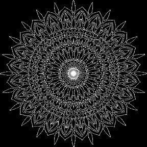 288x288 Flower Of Divinity Yoga Mat