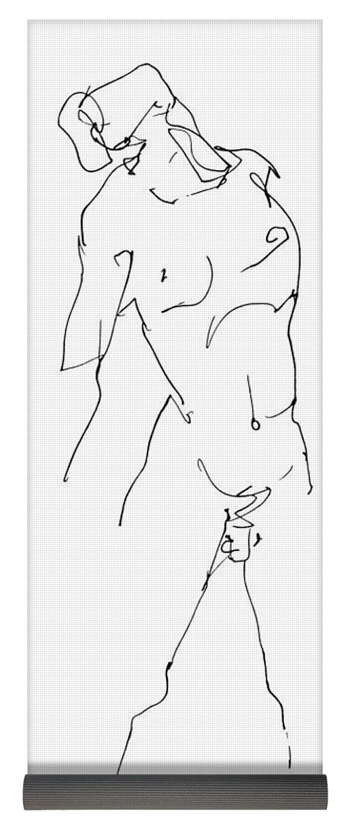 500x1171 Nude Male Drawing 11 Yoga Mat For Sale By Gordon Punt