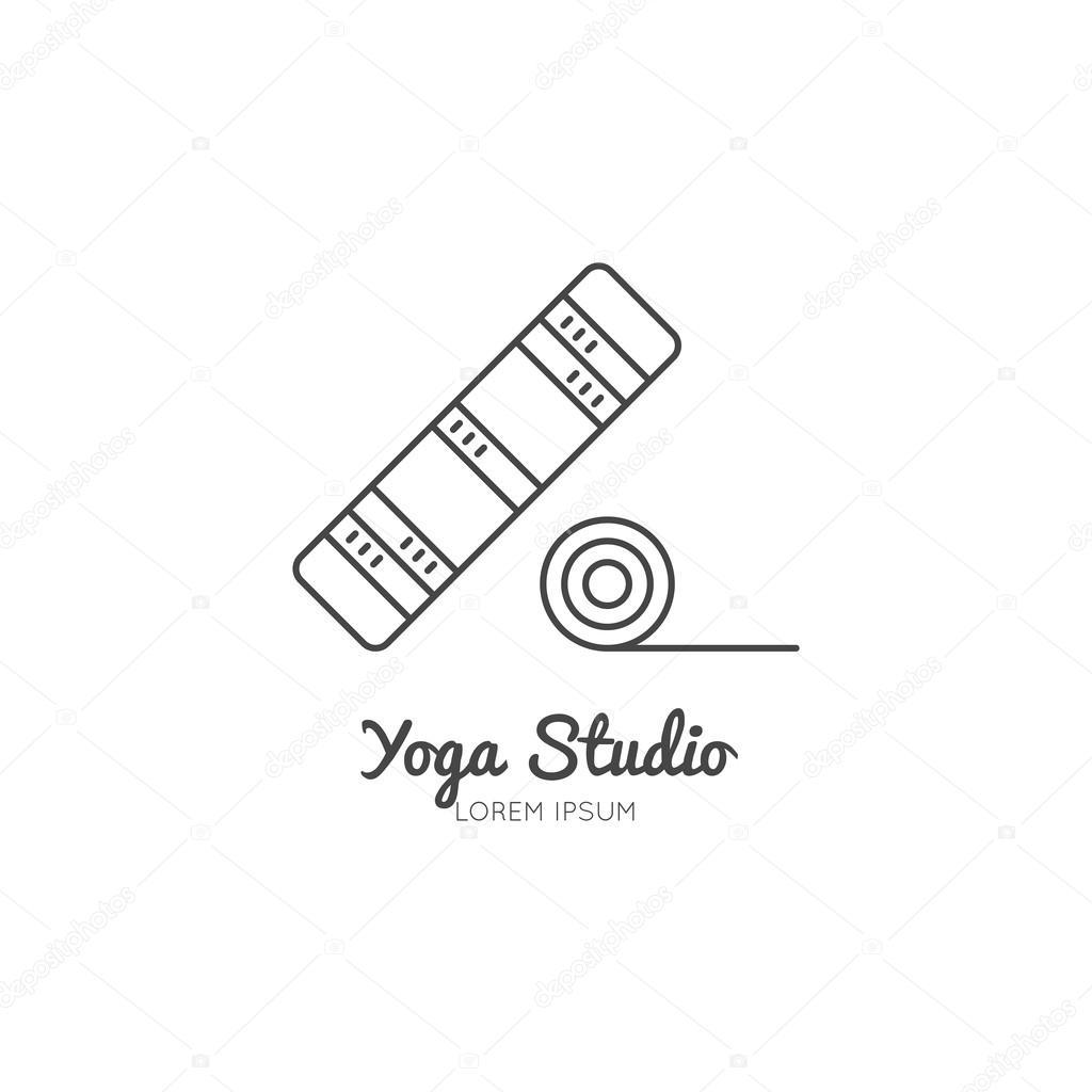 1024x1024 Single Logo With A Yoga Mat Stock Vector Favetelinguis199