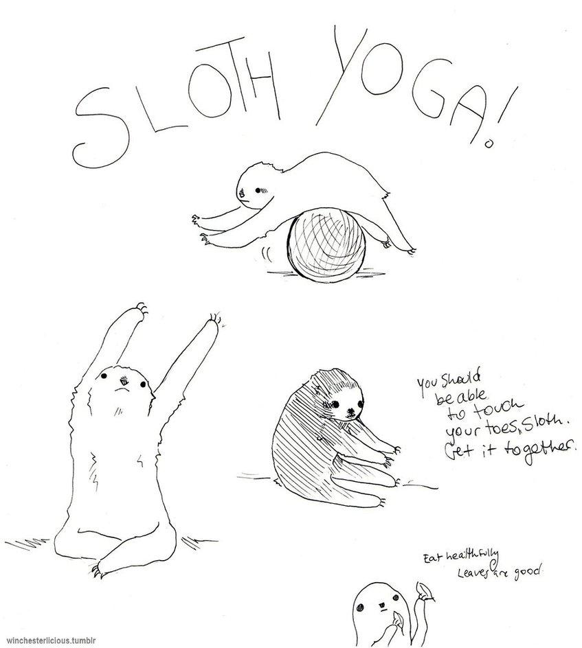 847x944 Sloth Yoga Mats