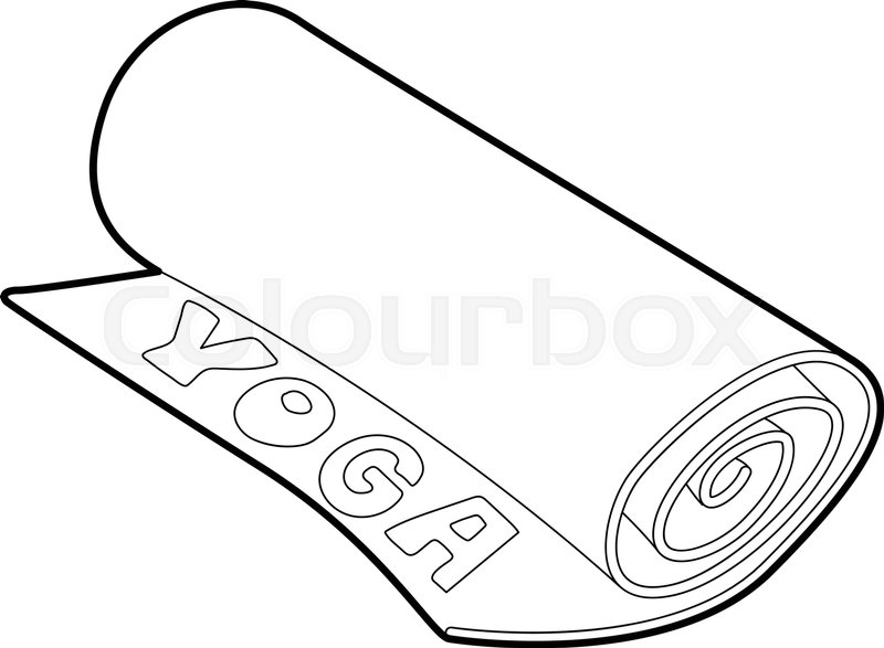 800x587 Yoga Mat Icon. Outline Illustration Of Yoga Mat Vector Icon