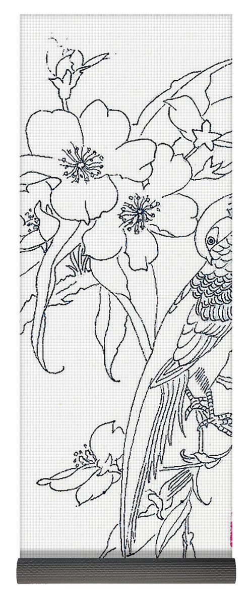 500x1171 Bird And Flowers Yoga Mat For Sale By Michael Vigliotti