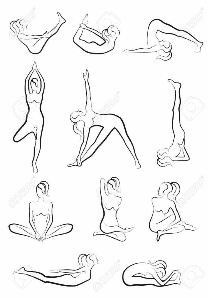 Yoga Pose Drawing at GetDrawings com | Free for personal use