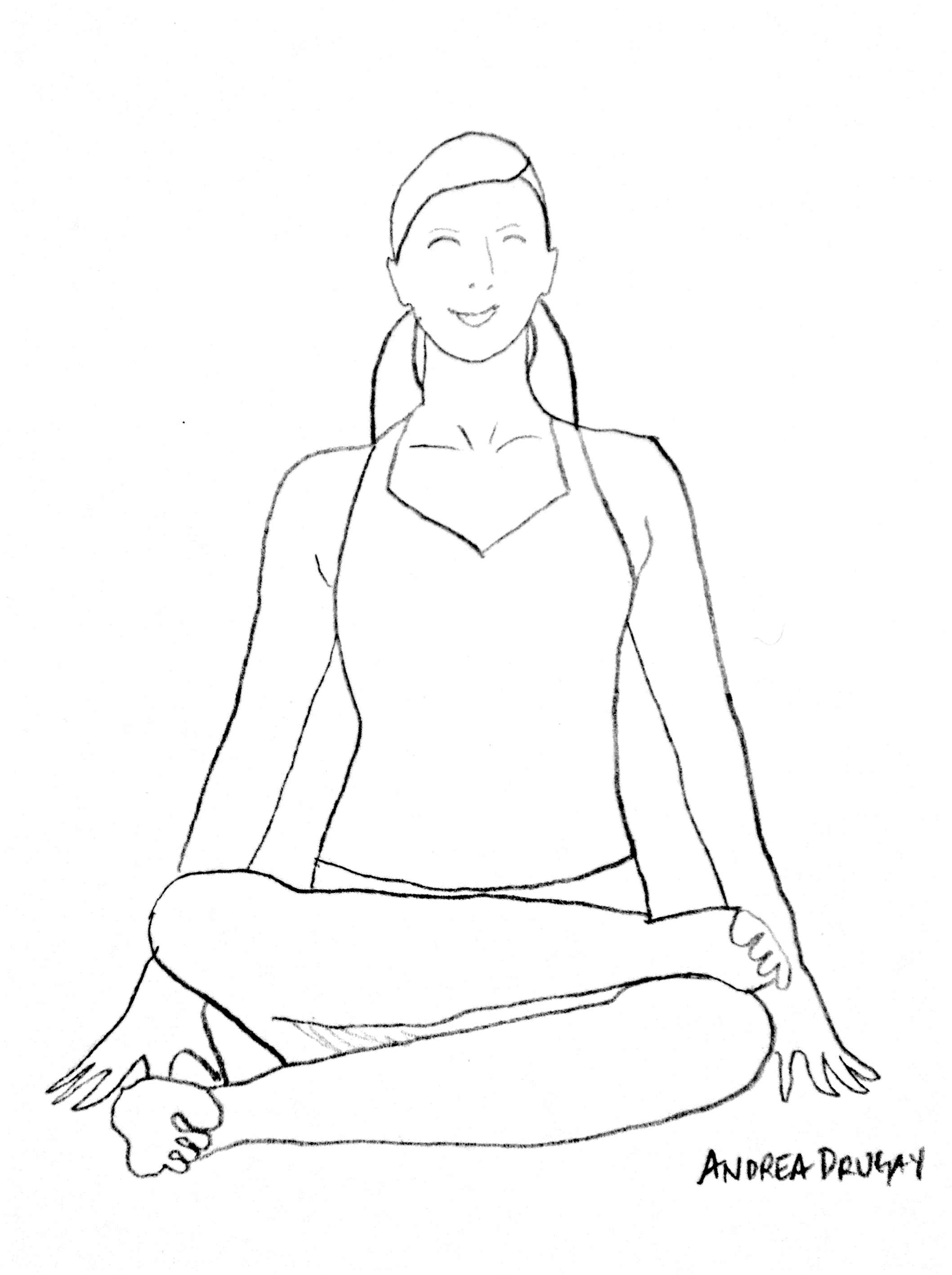 Yoga Pose Drawing at GetDrawings.com | Free for personal use Yoga ...