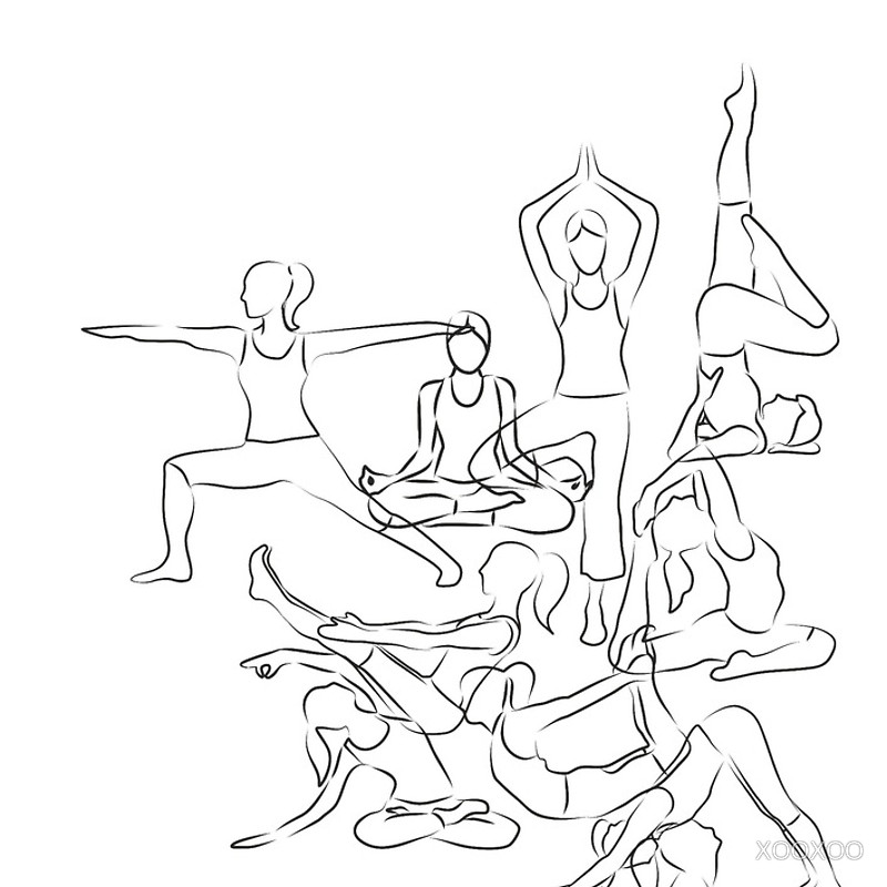 Yoga Postures Drawing Gallery