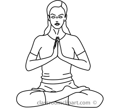 400x379 Yoga Black And White Clipart
