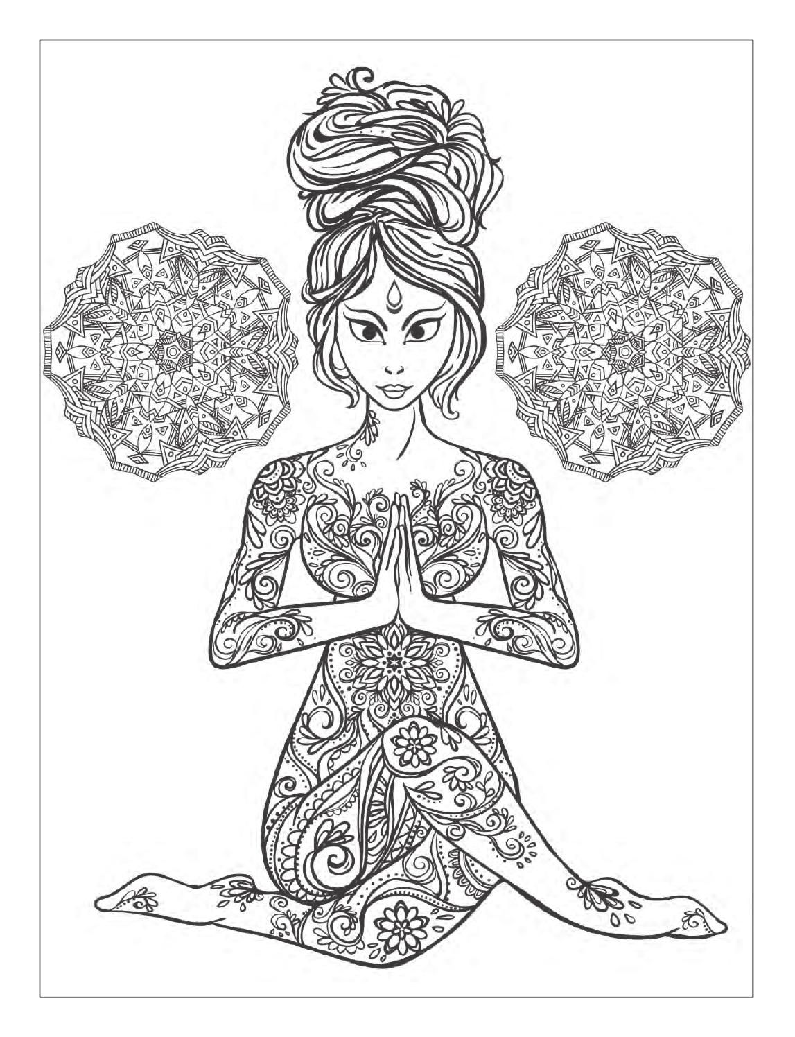 1147x1496 Yoga And Meditation Coloring Book For Adults With Poses