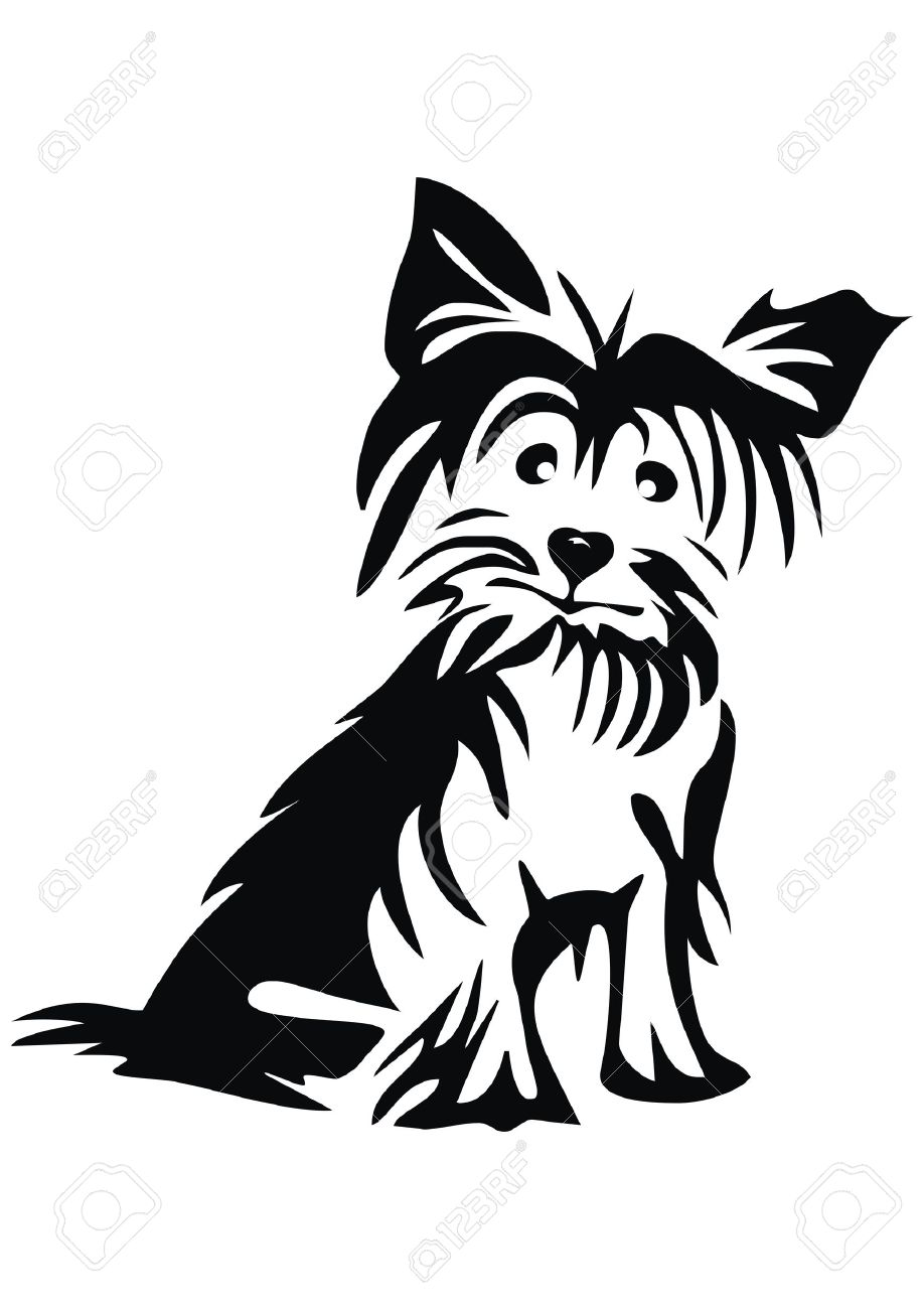 918x1300 Image Result For Yorkshire Terrier Silhouette Tattoos