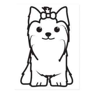 324x324 Cartoon Yorkshire Terrier Postcards Zazzle