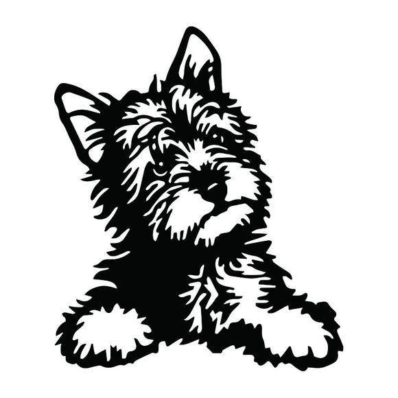 580x580 Yorkie Dog Vinyl Decal Cute Waterproof Car Stickers And Decals