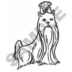 250x250 Lg Yorkie Outline Embroidery Designs, Machine Embroidery Designs