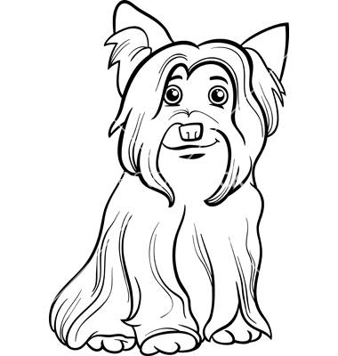 380x400 Coloring Pages Of A Yorkie