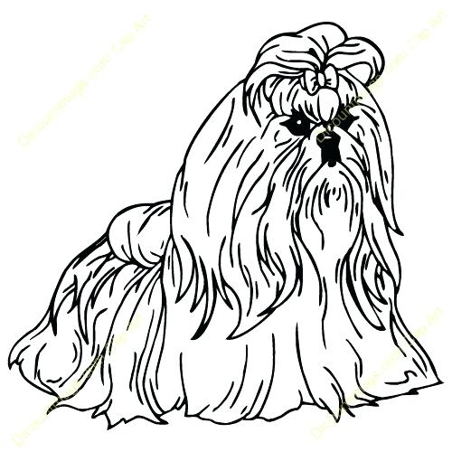500x500 Cute Shih Tzu Dog Coloring Pages Cute Yorkie Coloring Pages