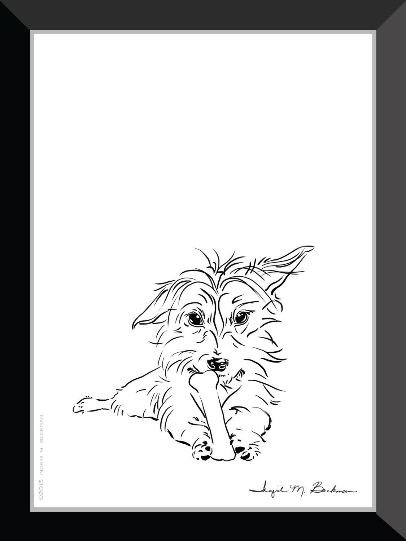 1125x1500 Yorkie Art Dorkie Art Dachshund Art Cute Dog Art Black