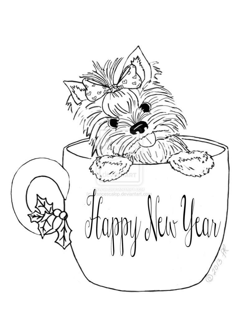 768x1024 Yorkie Coloring Page Coloring Page For Kids
