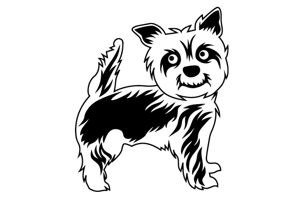 580x386 Short Cut Yorkshire Terrier Svg Cut File By Creative Fabrica