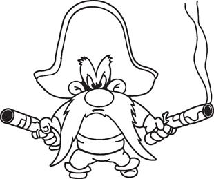 310x259 Yosemite Sam Decal Cartoon Characters Cartoons Decals