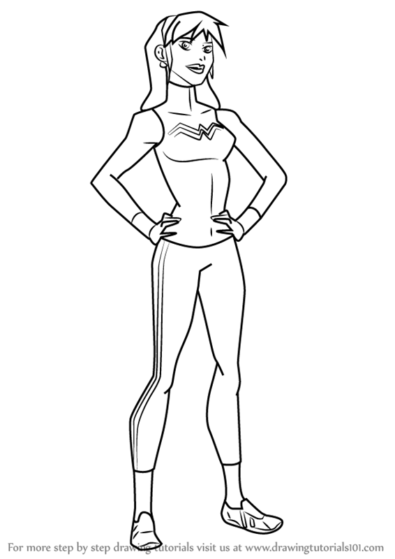 566x800 Learn How To Draw Wonder Girl From Young Justice (Young Justice