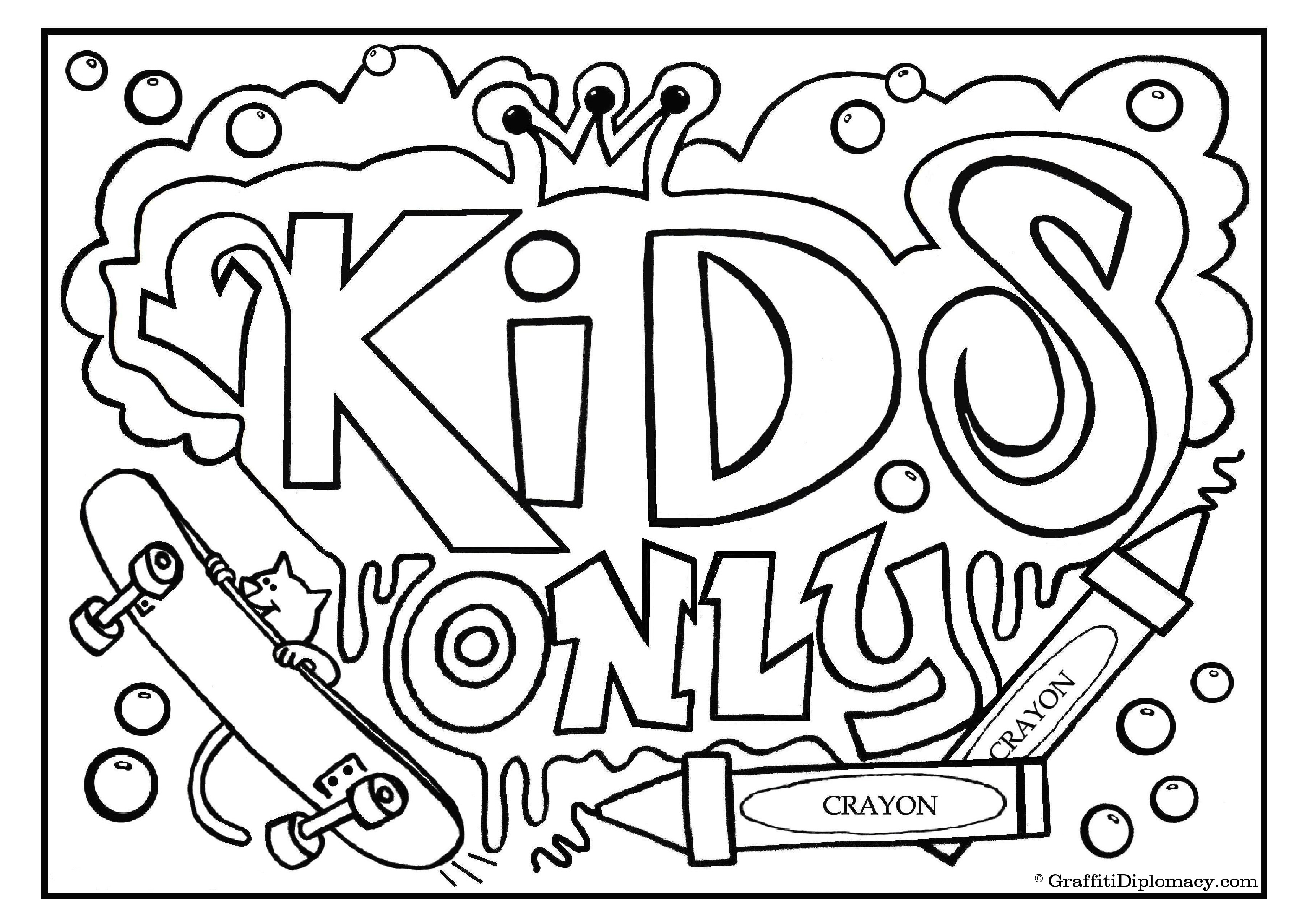 Art With Edge Graffiti Coloring Pages