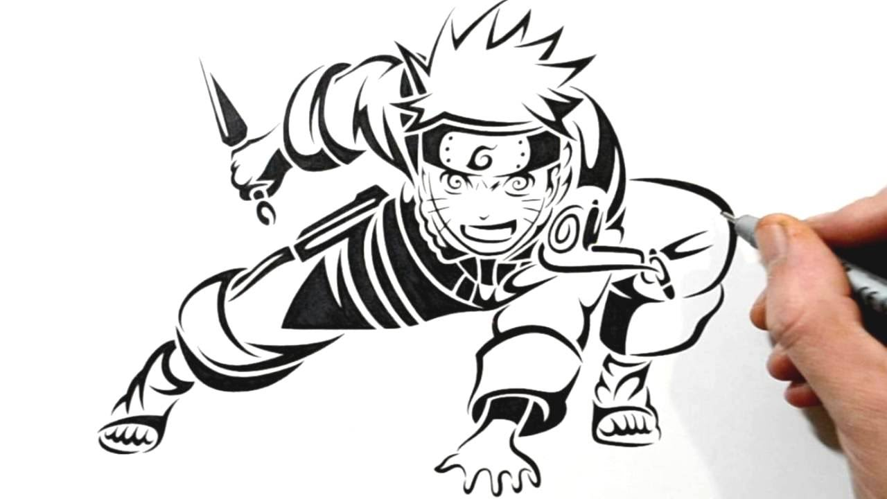 1280x720 Drawing Naruto In A Tribal Tattoo Design Style