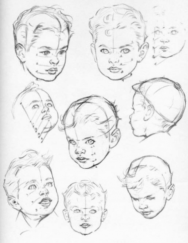 792x1024 How To Draw A Face For Children How To Draw Girl Face For Kids