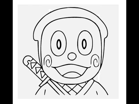 480x360 How To Draw Ninja Hattori Cartoon Face Step By Step