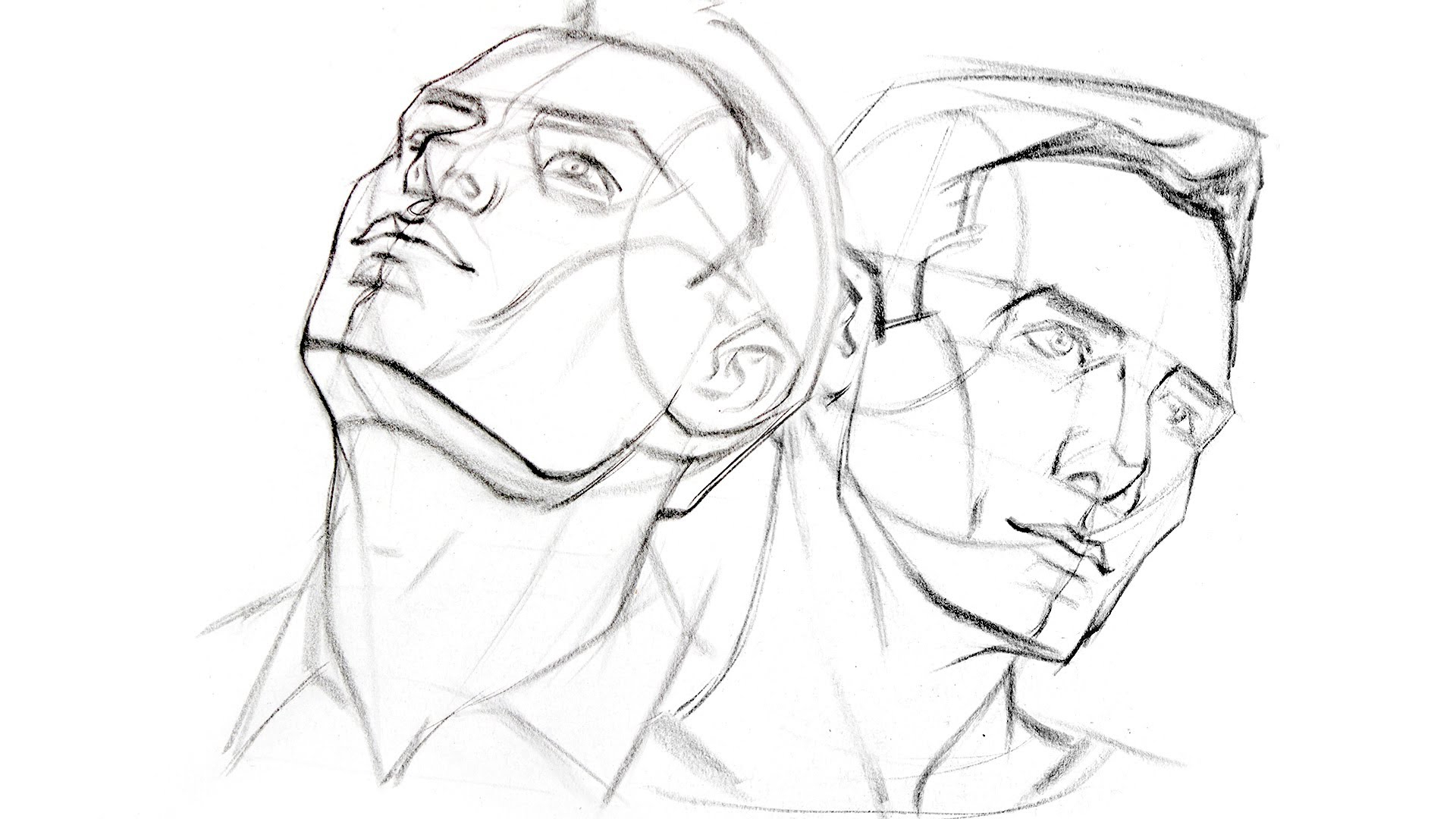 1920x1080 Perspective Drawing Of Face How To Draw The Head From Extreme