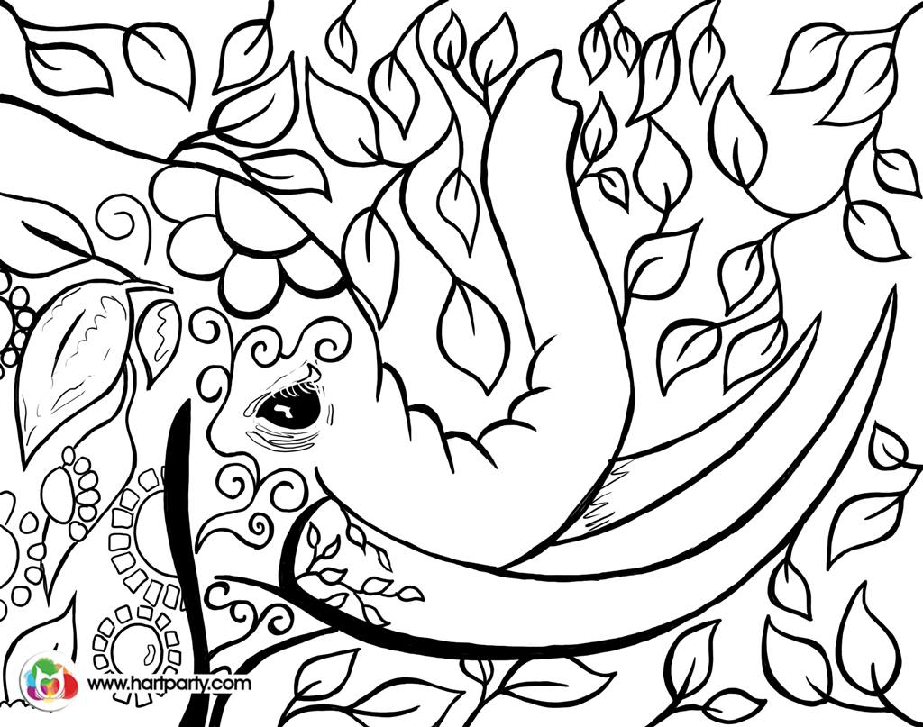 1024x807 Bohemian Elephant Trace And Coloring Page Digiprint Httpswww