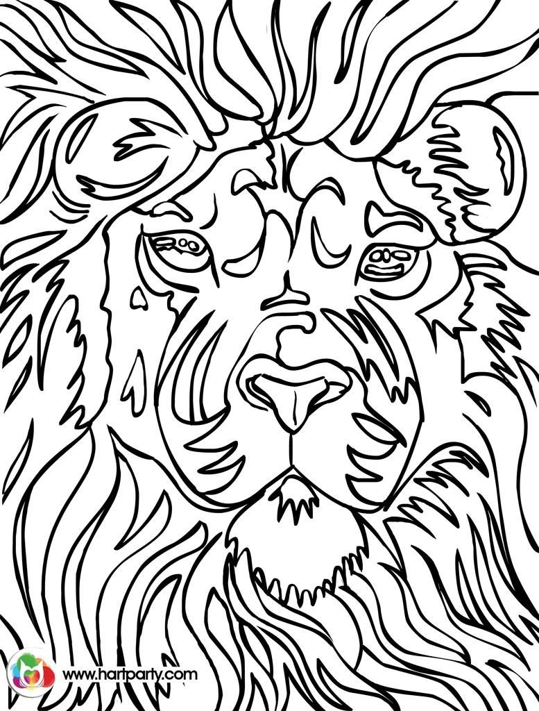 777x1024 Lion Trace Able Coloring Page For Hart Party Youtube How To Paint