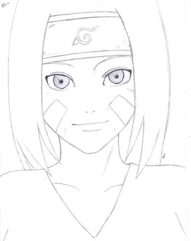 632x794 Pencil Easy Naruto Pencil Sketch And In Color Drawing Kakashi