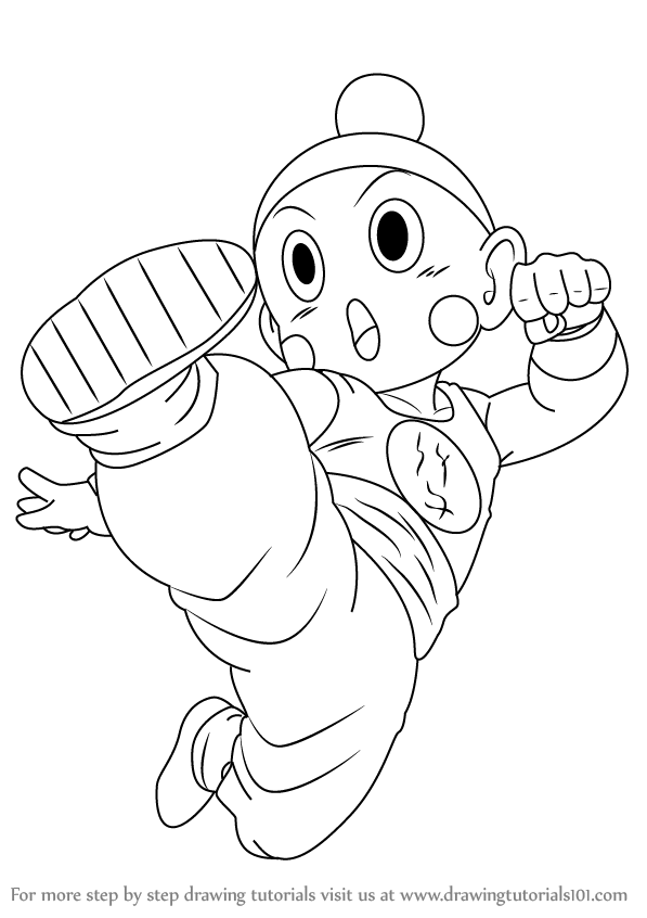 597x846 Learn How To Draw Chiaotzu From Dragon Ball Z (Dragon Ball Z) Step