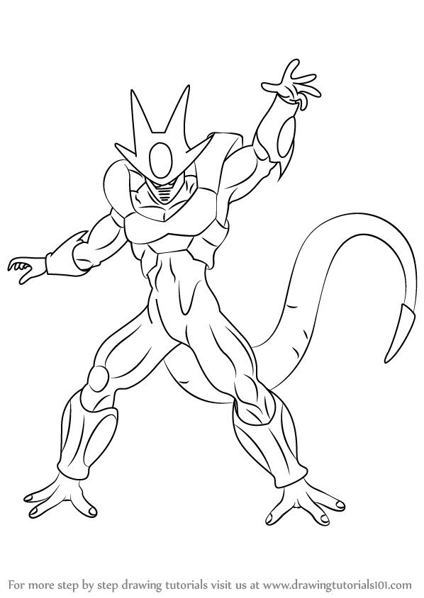 598x844 Learn How To Draw Cooler From Dragon Ball Z (Dragon Ball Z) Step