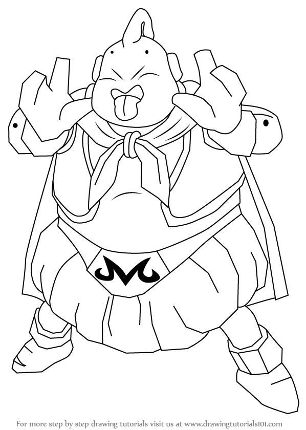 598x840 Learn How To Draw Majin Boo From Dragon Ball Z (Dragon Ball Z
