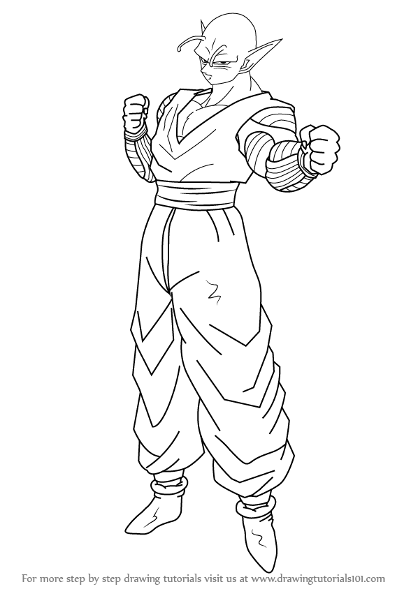 598x844 Learn How To Draw Piccolo From Dragon Ball Z (Dragon Ball Z) Step