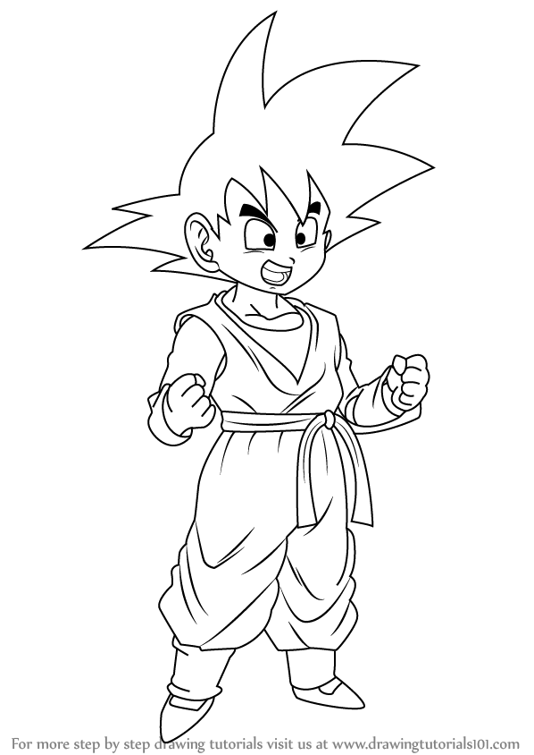 598x844 Learn How To Draw Son Goten From Dragon Ball Z (Dragon Ball Z