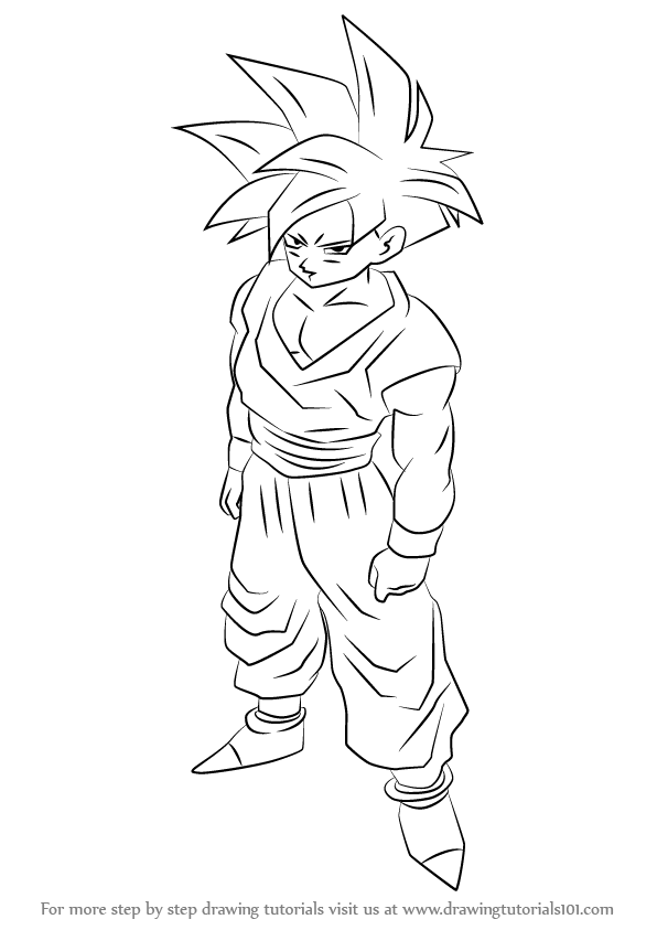 596x843 Learn How To Draw Teen Gohan From Dragon Ball Z (Dragon Ball Z