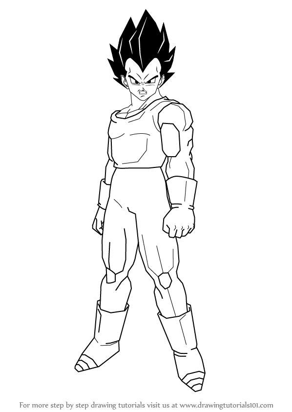 598x844 Learn How To Draw Vegeta From Dragon Ball Z (Dragon Ball Z) Step