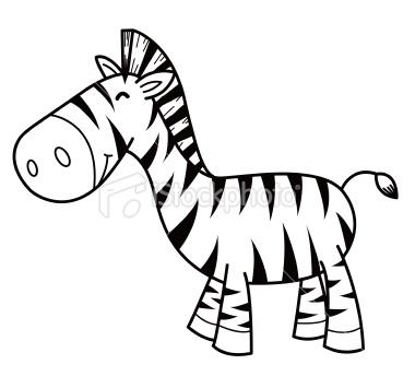 380x355 Illustration Of Cartoon Zebra On The White Cartoon And Craft