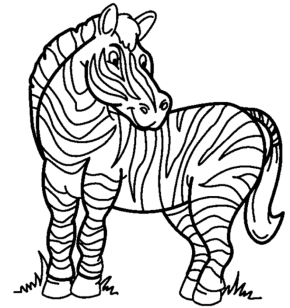 290x308 Zebra Happy Zebra Coloring Page, Cartoon Zebra Coloring Page